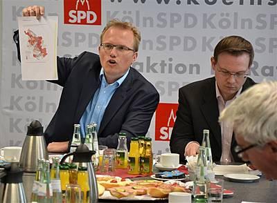 Jochen Ott und Martin Börschel auf der SPD-Pressekonferenz 26-04-2012